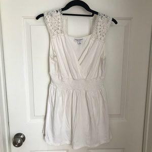 White crochet Maternity blouse
